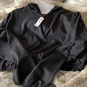 Cropped water resistant jacket (quarter zip)